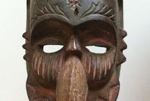 Tribal and Primitive art / tribal art, african art, oceanian art, ethic art,  (masks, jewelry, statues, artefacts...) toutes les formes et couleurs des continents lointains / by Eric Kawan