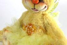 Katie Rae Handmade Bears / Whimsical handmade bears from artist Katherine Hallam / by Arts&Souls