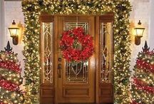 ~24~The Door to Christmas!~ / Lovely front doors and entrances into the homes celebrating Christmas. Related board: ~Christmas Exteriors~ / by Tammy Maria Settles