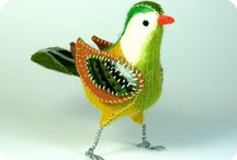 ~Felt & Fabric Birds~ / by Tammy Maria Settles
