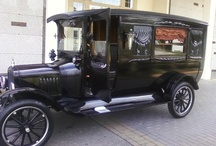 Want To Ride In A Hearse? / Hearses and other vintage cars. / by Viktoria Nacht