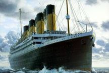 Titanic ⚓ / RMS Titanic was a British passenger liner that sank in the North Atlantic Ocean on 15 April 1912 after colliding with an iceberg during her maiden voyage from Southampton, UK to New York City, US. The sinking of Titanic caused the deaths of more than 1,500 people in one of the deadliest peacetime maritime disasters in modern history. / by Laura Conte-Tiberia