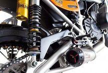 Bike Mod Ideas / Cafe/Streetfighter/Tracker/Monkey Bike/Motorised Bicycle  / by Paul Limiter