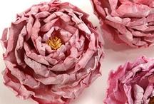 flower tutorials/ bloemen maken / by Giny Bakker