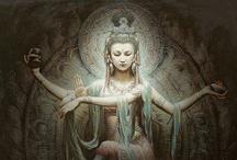 Quan Yin inspiration / The Goddess of Mercy - Guanyin | Guanshiyin | Guanyin Pusa | simplified Chinese 观音菩萨 | traditional Chinese  觀音菩薩 | pinyin Guānyīn Púsà |Wade–Giles Kuan-yin Pu-sah / by Bhupesh Shah