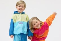 Baggers - Colourful Rainwear for Children / Baggers is a collection of colourful rainwear for children. They will keep your children warm and dry while they play around outside, no matter what the weather. Baggers protects your children's clothing but they are also fun to wear and they come in attached drawstring bags to carry them in so you can bring them with you everywhere you go. The trousers and tops both have elasticated hems to keep the warmth in, they are made of a soft comfy fabric that is designed to wipe clean in an instant.  / by Standun Spiddal