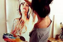 Art (visage et corp) / by B P