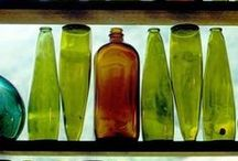 Bottles and Jars / Colorful and Useful Glass Bottles and Jars / by Kathy G's Board