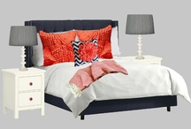 Specific Project: Bedroom / Inspiration for navy, coral, & grey bedroom. / by Sift & Whisk   Maria Noel
