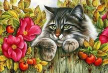 Cat Art / by Pamela Aamot