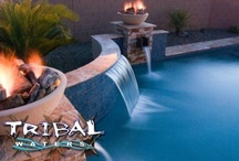 Water Features & Hardscapes / Hardscapes, water features, fire bowls, outdoor kitchens, and slides that we can add to your pool or backyard! Check out our main website for Tribal Waters in Phoenix and Chandler Arizona! www.tribalwaters.com / by Tribal Waters Custom Pools and Spas