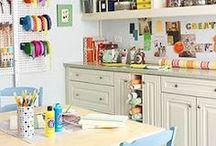 Inspiring craft room / by Josie Coccinelle