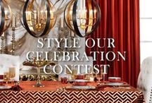STYLE OUR CELEBRATION / Help us style a festive fall table inspired by our Fall/Winter 2014 Lookbook! Pin items for our celebration through 9/21/14 for your chance to win a $500 shopping spree and have your design featured in our Fall Entertaining Guide. / by Z Gallerie