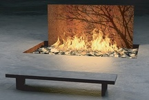 Outdoor fire place, fire pits, fire features / by Waterfalls Fountains & Gardens Inc.