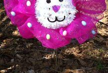 Deco Mesh  ~ Tulle ~ Fabric Wreaths  / by Yvonne Doyen