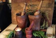 Mortar & Pestles / #Antiques #mortar and pestles # collectibles. # kitchen tools / by Cheryl Sawyers