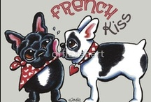Dogs : French Bulldogs / Showing love for the Frenchies :) / by Off-Leash Art™