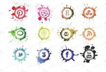 Social Media / Social Media, including humor, websites and icons / by Scarlet Hop
