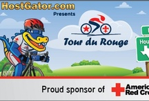 RED CROSS Tour du Rouge 2012 / HostGator is proud to have presented the 2012 Tour Du Rouge, benefiting the Gulf Coast chapters of The American Red Cross. The ride traversed 526 miles, starting in Houston on May 6 and ending in New Orleans on May 11, at an average of 88 miles per day. HostGator designed the awesome jerseys visible in these images, as well as t-shirts and lots of event graphics. Allan, one of our Admins who participated in the ride this year, was kind enough to share some of his experiences with us. / by HostGator