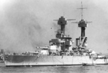 American Battleship / Dedicated to that tough breed of warship represented by hull numbers BB-1 to BB-71.  Even at its lowest moment, struck by surprise, in peacetime, at its moorings, this breed gave a uniquely creditable account of itself.  Only seven were ever lost, of which five were salvaged, four returned to battle, and three fought in the last battleship action in history. / by Electric Joe Czarnecki