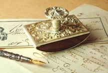 Pen, Ink, Paper, Postal / pens, paper, postal & the handwritten word (a seemingly lost art) calligraphy, letters, desk collectibles, ink, stamps, postage, mail art & more:)  / by Carolyn Williams