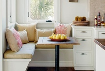 Window Seats and Banquettes  / Our favorite eat-in kitchens and cozy seating areas!  / by Better Homes and Gardens