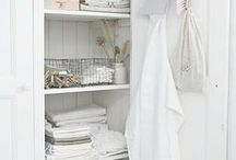 Laundry Room | Rustic + Chic / Chic laundry rooms | Chic cleaning supplies | The Laundress / by Bow & Blush