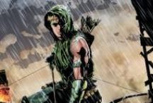 Green Arrow / Spoiled billionaire Oliver Queen came home with an entirely different personality—and a newfound purpose in life. Outfitting himself with arrows that shoot tear gas, smoke, nets, and more, Green Arrow has a trick shot for every obstacle. A modern-day Robin Hood, he constantly fights for the little guy as a crusading symbol for revolution.  / by DC Comics