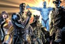 Watchmen/Before Watchmen / Who watches the Watchmen?   Watchmen takes place in an alternate world where the mere presence of American superheroes changed history: The US won the Vietnam War, Nixon is still president, and the cold war is in full effect. / by DC Comics