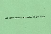 Lyrics; / by Amanda Solomon