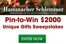 $2000 Unique Gifts Sweepstakes / Enter Hammacher Schlemmer's Pinterest Sweepstakes for your chance to win a $2,000 shopping spree or $100 gift card! #HammacherHolidays / by Hammacher Schlemmer