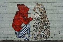 Street art - Straßenkunst / Art on streets, house walls Kunst auf Straßen, Hauswänden / by Jutta König
