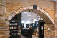 Design / Sandman Book Company (located in Punta Gorda, FL) is southwest Florida's largest independent bookstore. It boasts over 60,000 new and used books, one very friendly cat, and a beautiful upcycled art installation built from recycled books.  / by Sandman Book Company
