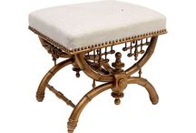 Furniture - BENCHES, STOOLS, OTTOMANS / by Jan E