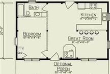 Floor Plans / Plans for small spaces and camper/portable style homes that I like.  / by Kat Trubey
