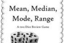 Central Tendencies (Math) / Mean, Median, Mode, Range / by Allyssa Sharpe