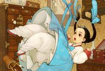 ArtRead: Alice's Wonders / Did she trip? / by Shay Brooks