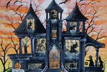 ~~Halloween~~ / One of my favorite times to decorate for.  Here are lots of vintage cards and postcards, costumes, candy holders, and printable pages. / by Diane Papineau