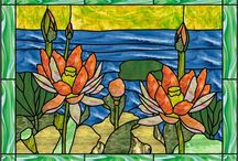 Vitrail: Fleurs, Arbres / by Sylvia Soleil