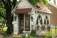 Garden Sheds / Garden Sheds, Potting Sheds / by The Keeping Room