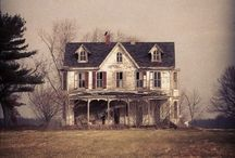 past tense / time ticked by... / back then / old & faded, hidden & abandoned, deserted & forgotten... / by liz