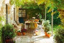 Balconies, patios, terraces../ Balcones , patios, terrazas / by Ale Fella Miscelaneas Arte Utilitario
