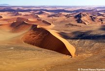 Sossusvlei / Climbing up one of the highest dunes in the world at Sossusvlei provides breathtaking views of perhaps Namibia's most outstanding scenery.  / by Namibia Tourism Board