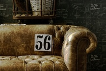 leather chair (couch) love / by The Farmer's Trophy Wife