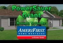 "PowerSaver Grant with AmeriFirst / The PowerSaver Grant from AmeriFirst Home Mortgage covers closing costs when a home buyer (or homeowner refinancing their home) makes specific eco-friendly home improvements with FHA 203k.  The PowerSaver Grant helps home buyers and homeowners add energy efficient upgrades to their home, qualifying for a rebate of sorts - approximately $2,000 in closing costs paid by AmeriFirst Home Mortgage as ""lender credits."" The amount depends on the amount of the loan. / by AmeriFirst Home Mortgage"