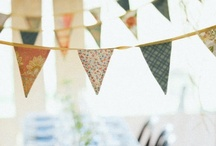 Bunting of all Kinds / #wedding #weddingdecor #weddingbunting #bunting #decor / by ~ Fleur de Lace Wedding and Events ~