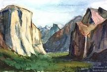 PAINTINGS-Mountains and streams / by Jerry Patton