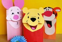 Kids Crafts - Paper Bag Puppets / 'Shine Kids Crafts' - a shop with special craft supplies / kits at wholesale price https://www.etsy.com/hk-en/shop/ShineKidsCrafts  / by Shine Kids Crafts