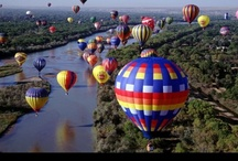 Way up in Sky (Hot Air Balloons) / Would Love to face My Fear OF Heights and ride in one of these Babies..... / by Stephanie Pfeffer