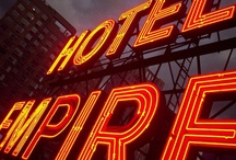 Iconic Neon Sign at Empire Hotel / by The Empire Hotel